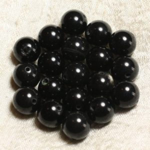 Shop Obsidian Bead Shapes! Wire 39cm 31pc env – stone beads – smoky black Obsidian balls 12 mm | Natural genuine other-shape Obsidian beads for beading and jewelry making.  #jewelry #beads #beadedjewelry #diyjewelry #jewelrymaking #beadstore #beading #affiliate #ad