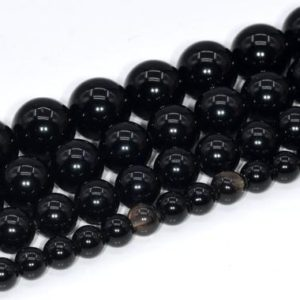 Black Obsidian Beads Grade A Genuine Natural Gemstone Round Loose Beads 4mm 6mm 8mm 10mm Bulk Lot Options | Natural genuine beads Obsidian beads for beading and jewelry making.  #jewelry #beads #beadedjewelry #diyjewelry #jewelrymaking #beadstore #beading #affiliate #ad