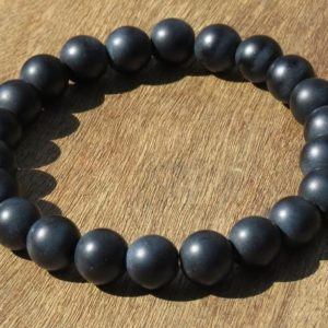 Shop Onyx Bracelets! Matte Onyx Healing Stone Bracelet or Anklet for the Base Chakra! | Natural genuine Onyx bracelets. Buy crystal jewelry, handmade handcrafted artisan jewelry for women.  Unique handmade gift ideas. #jewelry #beadedbracelets #beadedjewelry #gift #shopping #handmadejewelry #fashion #style #product #bracelets #affiliate #ad