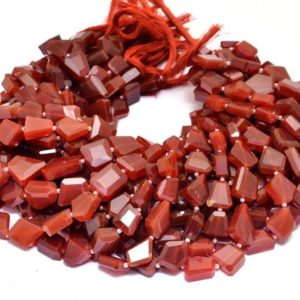 Shop Onyx Chip & Nugget Beads! AAA Red Onyx Faceted 12mm-15mm Nuggets Beads | Red Onyx Step Cut Tumbled | Natural Semi Precious Rare Gemstone Nuggets for Jewelry Making | Natural genuine chip Onyx beads for beading and jewelry making.  #jewelry #beads #beadedjewelry #diyjewelry #jewelrymaking #beadstore #beading #affiliate #ad