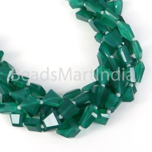 Shop Onyx Chip & Nugget Beads! Green Onyx Faceted Nugget Fancy Beads, Green Onyx Nugget Beads, Green Onyx Faceted Beads, Green Onyx Nugget Fancy Beads, Green Onyx Beads | Natural genuine chip Onyx beads for beading and jewelry making.  #jewelry #beads #beadedjewelry #diyjewelry #jewelrymaking #beadstore #beading #affiliate #ad