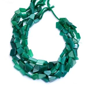 Shop Onyx Chip & Nugget Beads! Natural Green Onyx Gemstone 12mm-15mm Nugget Beads | Green Onyx Rare Semi Precious Gemstone Tumbled Smooth Beads for Jewelry | 13inch Strand | Natural genuine chip Onyx beads for beading and jewelry making.  #jewelry #beads #beadedjewelry #diyjewelry #jewelrymaking #beadstore #beading #affiliate #ad