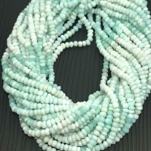 Shop Opal Beads! ON SALE 3 mm Peruvian Opal Shaded Micro Faceted Rondelle Beads Strand / Peruvian Opal Bead Strand / Wholesale Opal Beads / Faceted Opal Sale | Natural genuine beads Opal beads for beading and jewelry making.  #jewelry #beads #beadedjewelry #diyjewelry #jewelrymaking #beadstore #beading #affiliate #ad