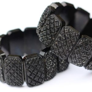 Shop Jet Jewelry! Pair of Victorian Whitby jet bracelets | Natural genuine Jet jewelry. Buy crystal jewelry, handmade handcrafted artisan jewelry for women.  Unique handmade gift ideas. #jewelry #beadedjewelry #beadedjewelry #gift #shopping #handmadejewelry #fashion #style #product #jewelry #affiliate #ad