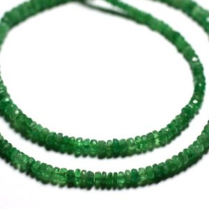 Shop Pearl Faceted Beads! Wire 42cm 210pc env – Pearls of Stone – Grenat Tsavorite Green Rounds Faceted 2-5mm | Natural genuine faceted Pearl beads for beading and jewelry making.  #jewelry #beads #beadedjewelry #diyjewelry #jewelrymaking #beadstore #beading #affiliate #ad