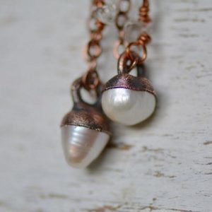 Shop Pearl Pendants! Pearl Necklace, Pearl Jewelry, Delicate Necklace, Copper Necklace, Electroformed Jewelry, Gemstone Pendant, Pearl Pendant, Boho Bride | Natural genuine Pearl pendants. Buy crystal jewelry, handmade handcrafted artisan jewelry for women.  Unique handmade gift ideas. #jewelry #beadedpendants #beadedjewelry #gift #shopping #handmadejewelry #fashion #style #product #pendants #affiliate #ad