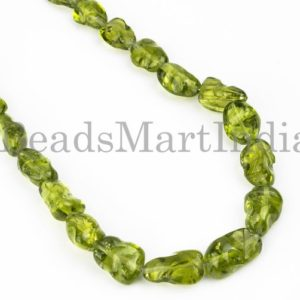 Shop Peridot Chip & Nugget Beads! Peridot Plain Nugget Shape Natural Beads Necklace, Single Line AAA Quality Peridot Necklace, Peridot Plain Necklace, Peridot Nugget Beads | Natural genuine chip Peridot beads for beading and jewelry making.  #jewelry #beads #beadedjewelry #diyjewelry #jewelrymaking #beadstore #beading #affiliate #ad