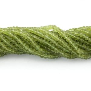 Shop Peridot Faceted Beads! 5 Strand Peridot Faceted Rondelles Strand | 3-4 mm Approx | 13.5 Inch Strand | Gemstone Beads | Loose Gemstone | Rondelles Strand | Gift | Natural genuine faceted Peridot beads for beading and jewelry making.  #jewelry #beads #beadedjewelry #diyjewelry #jewelrymaking #beadstore #beading #affiliate #ad