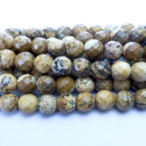 Shop Picture Jasper Faceted Beads! faceted picture jasper –  jasper gemstone beads – round beads wholesale – jasper loose beads for jewellery making – 15 inch | Natural genuine faceted Picture Jasper beads for beading and jewelry making.  #jewelry #beads #beadedjewelry #diyjewelry #jewelrymaking #beadstore #beading #affiliate #ad