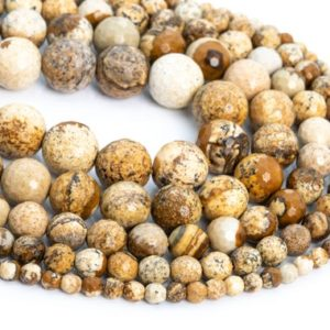Shop Picture Jasper Faceted Beads! Genuine Natural Picture Jasper Loose Beads Micro Faceted Round Shape 6mm 8mm 10mm 12mm | Natural genuine faceted Picture Jasper beads for beading and jewelry making.  #jewelry #beads #beadedjewelry #diyjewelry #jewelrymaking #beadstore #beading #affiliate #ad