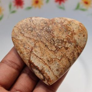 Shop Picture Jasper Shapes! XXL A++ Beautiful Picture Jasper heart stone, Picture Jasper Natural heart stone, Healing Crystal, Meditation, Power Stone, healing stone   Natural genuine stones & crystals in various shapes & sizes. Buy raw cut, tumbled, or polished gemstones for making jewelry or crystal healing energy vibration raising reiki stones. #crystals #gemstones #crystalhealing #crystalsandgemstones #energyhealing #affiliate #ad