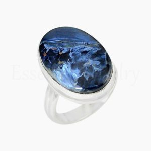 Shop Pietersite Rings! Cute Pietersite Ring, Handmade Ring, 925 Sterling Silver, Oval Gemstone, Statement Ring, Simple Band Ring, Cabochon Gemstone, Bohemian Ring | Natural genuine Pietersite rings, simple unique handcrafted gemstone rings. #rings #jewelry #shopping #gift #handmade #fashion #style #affiliate #ad