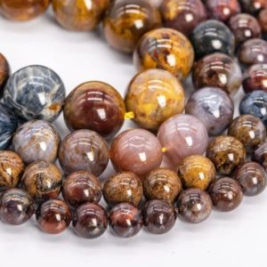 Shop Pietersite Beads! Genuine Natural Brown Pietersite Loose Beads Colombia Grade AA Round Shape 8mm 9-10mm 10mm 11mm | Natural genuine round Pietersite beads for beading and jewelry making.  #jewelry #beads #beadedjewelry #diyjewelry #jewelrymaking #beadstore #beading #affiliate #ad