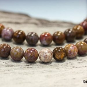 """Shop Pietersite Beads! M-S/ Pietersite 8mm/ 6mm/ 4mm Smooth Round loose beads 15.5"""" strand Genuine African Pietersite beads for jewelry making 