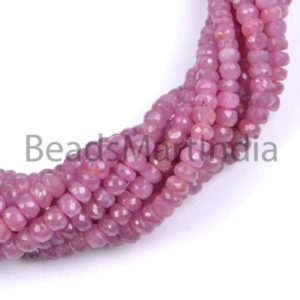 Shop Pink Sapphire Beads! Pink Sapphire Faceted Rondelle Beads, Pink Sapphire Faceted Beads, Sapphire Rondelle Beads, Pink Sapphire Beads, Sapphire Natural Beads   Natural genuine faceted Pink Sapphire beads for beading and jewelry making.  #jewelry #beads #beadedjewelry #diyjewelry #jewelrymaking #beadstore #beading #affiliate #ad