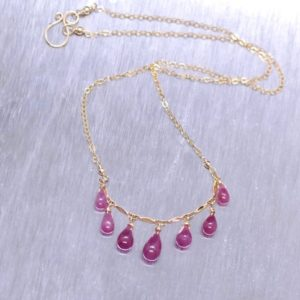 Shop Pink Sapphire Necklaces! Pink Sapphire Necklace, Natural Pink Sapphire Drops, Sapphire Necklace Gold filled, Sapphire Necklace   Natural genuine Pink Sapphire necklaces. Buy crystal jewelry, handmade handcrafted artisan jewelry for women.  Unique handmade gift ideas. #jewelry #beadednecklaces #beadedjewelry #gift #shopping #handmadejewelry #fashion #style #product #necklaces #affiliate #ad