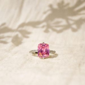 Pink Sapphire Ring Sterling Silver 925 Ring For Women Engagement Ring Statement Ring Statement Minimalist Ring Wedding Promise White Gold   Natural genuine Gemstone rings, simple unique alternative gemstone engagement rings. #rings #jewelry #bridal #wedding #jewelryaccessories #engagementrings #weddingideas #affiliate #ad