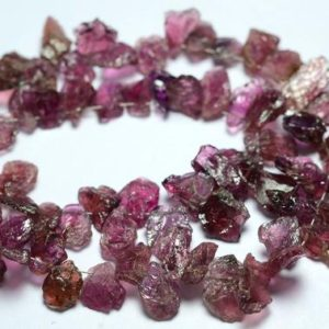 Shop Pink Tourmaline Chip & Nugget Beads! 7 Inches Strand Natural Pink Tourmaline Rough Beads 7x8mm to 8x13mm Natural Shape Raw Gemstone Beads Superb Tourmaline Beads No2707 | Natural genuine chip Pink Tourmaline beads for beading and jewelry making.  #jewelry #beads #beadedjewelry #diyjewelry #jewelrymaking #beadstore #beading #affiliate #ad