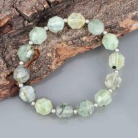 Natural Prehnite Bracelet Gemstone Jewelry Handmade Prehnite Beads Bracelet Beaded Bracelet February Birthstone Mother's Day Gift For Her | Natural genuine Gemstone jewelry. Buy crystal jewelry, handmade handcrafted artisan jewelry for women.  Unique handmade gift ideas. #jewelry #beadedjewelry #beadedjewelry #gift #shopping #handmadejewelry #fashion #style #product #jewelry #affiliate #ad