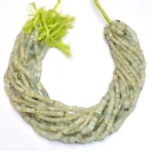 Shop Prehnite Faceted Beads! Prehnite Gemstone 4mm-7mm Faceted Heishi Rondelle Beads | 14inch Strand | Natural  Green Prehnite Semi Precious Gemstone Disc / Coin Beads | Natural genuine faceted Prehnite beads for beading and jewelry making.  #jewelry #beads #beadedjewelry #diyjewelry #jewelrymaking #beadstore #beading #affiliate #ad