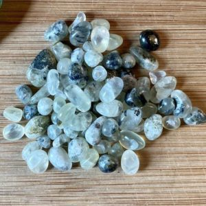 Shop Tumbled Prehnite Crystals & Pocket Stones! Prehnite Tumbled Chips Gift Bag jewelry making crafts crafting roller ball | Natural genuine stones & crystals in various shapes & sizes. Buy raw cut, tumbled, or polished gemstones for making jewelry or crystal healing energy vibration raising reiki stones. #crystals #gemstones #crystalhealing #crystalsandgemstones #energyhealing #affiliate #ad