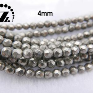 Shop Pyrite Beads! Iron Pyrite, 15 Inch Full Strand Iron Pyrite Faceted(64 Faces) Round Beads, golden Brass Beads 4mm 6mm 8mm 10mm 12mm For Choice | Natural genuine beads Pyrite beads for beading and jewelry making.  #jewelry #beads #beadedjewelry #diyjewelry #jewelrymaking #beadstore #beading #affiliate #ad