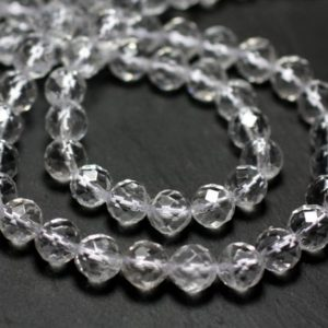 Shop Quartz Crystal Faceted Beads! 10pc – stone beads – clear Quartz No. 1 6mm 4558550002112 faceted balls   Natural genuine faceted Quartz beads for beading and jewelry making.  #jewelry #beads #beadedjewelry #diyjewelry #jewelrymaking #beadstore #beading #affiliate #ad