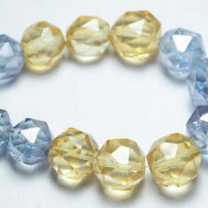 """Shop Quartz Crystal Faceted Beads! 7.5"""" Strand Natural Mystic Quartz Rondelle 12mm to 16mm Big Ball Beads Rare Mystic Quartz Bead Faceted Gemstone Beads Semi Precious No1100   Natural genuine faceted Quartz beads for beading and jewelry making.  #jewelry #beads #beadedjewelry #diyjewelry #jewelrymaking #beadstore #beading #affiliate #ad"""