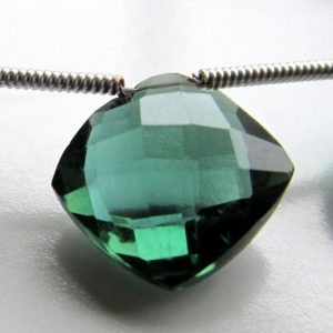 Quartz Beads 12mm Pine Green Faceted Crystal Quartz Diamond Squares (OOAK) – 8 inch Graduated Strand | Natural genuine beads Gemstone beads for beading and jewelry making.  #jewelry #beads #beadedjewelry #diyjewelry #jewelrymaking #beadstore #beading #affiliate #ad