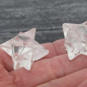 Clear Quartz Merkaba M100 | Natural genuine stones & crystals in various shapes & sizes. Buy raw cut, tumbled, or polished gemstones for making jewelry or crystal healing energy vibration raising reiki stones. #crystals #gemstones #crystalhealing #crystalsandgemstones #energyhealing #affiliate #ad