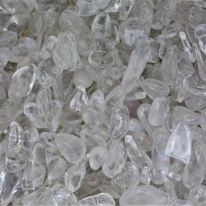 Clear Quartz Tumbled Gemstone Chips, Choose Amount | Natural genuine stones & crystals in various shapes & sizes. Buy raw cut, tumbled, or polished gemstones for making jewelry or crystal healing energy vibration raising reiki stones. #crystals #gemstones #crystalhealing #crystalsandgemstones #energyhealing #affiliate #ad