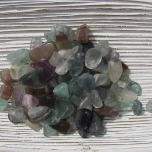 Shop Tumbled Fluorite Crystals & Pocket Stones! Fluorite – Mini Fluorite Tumbled – Fluorite Pebbles – Rainbow Fluorite – Fluorite Chips – Rollerball Stones – Neutralizes Negative Energy | Natural genuine stones & crystals in various shapes & sizes. Buy raw cut, tumbled, or polished gemstones for making jewelry or crystal healing energy vibration raising reiki stones. #crystals #gemstones #crystalhealing #crystalsandgemstones #energyhealing #affiliate #ad