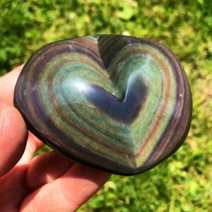 Rainbow Obsidian Heart Stone – Rainbow Obsidian Stone Heart – hand carved – Rainbow Obsidian from Mexico – Rainbow Obsidian Crystal | Natural genuine stones & crystals in various shapes & sizes. Buy raw cut, tumbled, or polished gemstones for making jewelry or crystal healing energy vibration raising reiki stones. #crystals #gemstones #crystalhealing #crystalsandgemstones #energyhealing #affiliate #ad