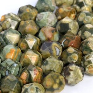Shop Rainforest Jasper Beads! Genuine Natural Rainforest Rhyolite Loose Beads Star Cut Faceted Shape 5-6mm 7-8mm | Natural genuine faceted Rainforest Jasper beads for beading and jewelry making.  #jewelry #beads #beadedjewelry #diyjewelry #jewelrymaking #beadstore #beading #affiliate #ad