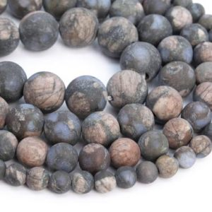 Shop Rainforest Jasper Beads! Genuine Natural Matte Llanite Rhyolite Loose Beads Round Shape 6mm 8mm 10mm | Natural genuine round Rainforest Jasper beads for beading and jewelry making.  #jewelry #beads #beadedjewelry #diyjewelry #jewelrymaking #beadstore #beading #affiliate #ad