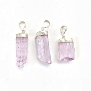 Shop Kunzite Jewelry! Raw Kunzite Pendant – sterling silver – pink kunzite crystal – raw kunzite necklace – healing crystals and stones – pink kunzite stone | Natural genuine Kunzite jewelry. Buy crystal jewelry, handmade handcrafted artisan jewelry for women.  Unique handmade gift ideas. #jewelry #beadedjewelry #beadedjewelry #gift #shopping #handmadejewelry #fashion #style #product #jewelry #affiliate #ad