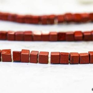 S/ Red Jasper 4x4mm Cube Beads 15.5 inches long, Genuine Jasper Small Cube Cut, For Earring Matching, DIY Jewelry Making   Natural genuine other-shape Gemstone beads for beading and jewelry making.  #jewelry #beads #beadedjewelry #diyjewelry #jewelrymaking #beadstore #beading #affiliate #ad
