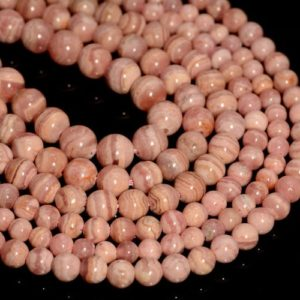 Natural Rhodocrosite Semi Precious Gemstone Straight Drill Fancy Beads 7 Strand AAA Rhodochrosite 6mm Faceted Square Briolette Beads