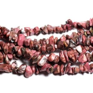 Shop Rhodonite Chip & Nugget Beads! Thread 280pc approx 89cm – beads of stone – Rhodonite Chips 5-10mm beads   Natural genuine chip Rhodonite beads for beading and jewelry making.  #jewelry #beads #beadedjewelry #diyjewelry #jewelrymaking #beadstore #beading #affiliate #ad