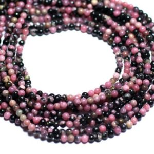 Shop Rhodonite Bead Shapes! 40pc – stone beads – pink and black Rhodonite beads 2mm – 8741140007963 | Natural genuine other-shape Rhodonite beads for beading and jewelry making.  #jewelry #beads #beadedjewelry #diyjewelry #jewelrymaking #beadstore #beading #affiliate #ad