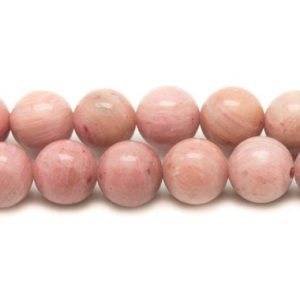 Shop Rhodonite Bead Shapes! 5pc – stone beads – Rhodonite balls 9-10mm 4558550017635 | Natural genuine other-shape Rhodonite beads for beading and jewelry making.  #jewelry #beads #beadedjewelry #diyjewelry #jewelrymaking #beadstore #beading #affiliate #ad