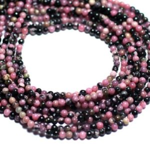 Shop Rhodonite Bead Shapes! Wire 39cm 180pc env – stone beads – pink and black Rhodonite beads 2 mm | Natural genuine other-shape Rhodonite beads for beading and jewelry making.  #jewelry #beads #beadedjewelry #diyjewelry #jewelrymaking #beadstore #beading #affiliate #ad
