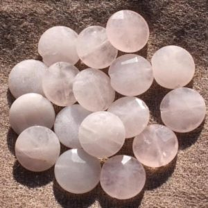 Shop Rose Quartz Faceted Beads! 2PC – stone beads – faceted beads 15mm 4558550010889 Rose Quartz | Natural genuine faceted Rose Quartz beads for beading and jewelry making.  #jewelry #beads #beadedjewelry #diyjewelry #jewelrymaking #beadstore #beading #affiliate #ad
