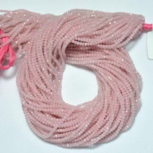 Shop Rose Quartz Rondelle Beads! Natural Rose Quartz Rondelle Beads,Pink Rose Quartz Gemstone Rondelle Loose Beads Semi Precious Gemstone Beads 2.20mm 12.5inch Long Strand | Natural genuine rondelle Rose Quartz beads for beading and jewelry making.  #jewelry #beads #beadedjewelry #diyjewelry #jewelrymaking #beadstore #beading #affiliate #ad