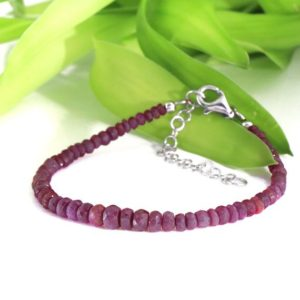 Shaded Ruby Gemstone Bracelet July Birthday Gift for her Yoga Crystal Bracelet Meditation Bracelet Ruby Jewelry Fashionable | Natural genuine Array bracelets. Buy crystal jewelry, handmade handcrafted artisan jewelry for women.  Unique handmade gift ideas. #jewelry #beadedbracelets #beadedjewelry #gift #shopping #handmadejewelry #fashion #style #product #bracelets #affiliate #ad