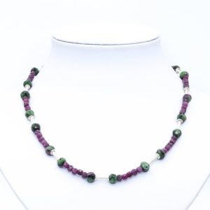 Shop Ruby Zoisite Necklaces! ruby gemstone necklace, red ruby necklace, ruby zoisite necklace, precious gemstone necklace, small gemstone necklace special gifts for her | Natural genuine Ruby Zoisite necklaces. Buy crystal jewelry, handmade handcrafted artisan jewelry for women.  Unique handmade gift ideas. #jewelry #beadednecklaces #beadedjewelry #gift #shopping #handmadejewelry #fashion #style #product #necklaces #affiliate #ad