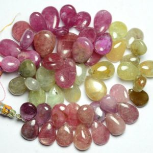 Shop Ruby Bead Shapes! 8.5 Inches Strand Natural Multi Ruby Beads 8x10mm to 11x15mm Smooth Pear Briolettes Gemstone Beads Superb Pink Ruby Precious Beads No3653 | Natural genuine other-shape Ruby beads for beading and jewelry making.  #jewelry #beads #beadedjewelry #diyjewelry #jewelrymaking #beadstore #beading #affiliate #ad