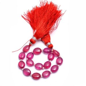 Shop Ruby Bead Shapes! AAA+ Rare Red Ruby Gemstone 7x9mm Smooth Oval Beads | 6inch Strand | Natural Ruby Precious Gemstone Fancy Loose Oval Beads for Jewelry | Natural genuine other-shape Ruby beads for beading and jewelry making.  #jewelry #beads #beadedjewelry #diyjewelry #jewelrymaking #beadstore #beading #affiliate #ad