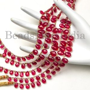 Shop Ruby Bead Shapes! Precious Ruby Smooth Pear Beads, High Quality Ruby Plain Pear Shape Beads, Ruby Smooth Beads, Natural Ruby Pear Beads, Ruby AAA Beads | Natural genuine other-shape Ruby beads for beading and jewelry making.  #jewelry #beads #beadedjewelry #diyjewelry #jewelrymaking #beadstore #beading #affiliate #ad