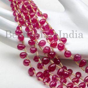 Shop Ruby Bead Shapes! Precious Ruby Smooth Drops Beads, High Quality Ruby Plain Drop Shape Beads, Ruby Smooth Beads, Natural Ruby Drop Beads, Ruby AAA Beads | Natural genuine other-shape Ruby beads for beading and jewelry making.  #jewelry #beads #beadedjewelry #diyjewelry #jewelrymaking #beadstore #beading #affiliate #ad